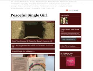 peacefulsinglegirl.wordpress.com screenshot