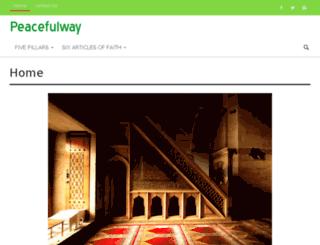peacefulway.net screenshot