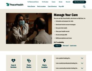 peacehealth.org screenshot