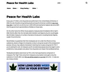 peacehealthlabs.org screenshot