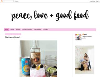 peacelovegoodfood.com screenshot