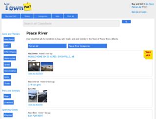 peaceriverpost.ca screenshot