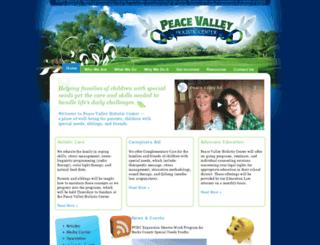 peacevalleyholisticcenter.org screenshot