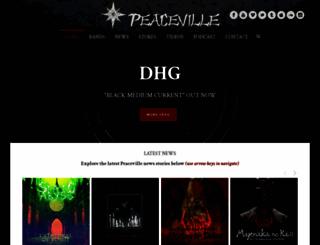 peaceville.com screenshot