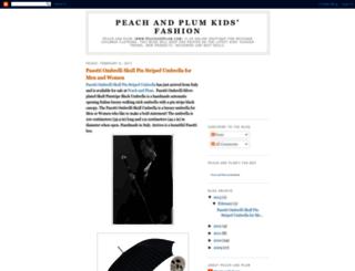 peach-and-plum.blogspot.com screenshot