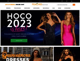 peachesboutique.com screenshot