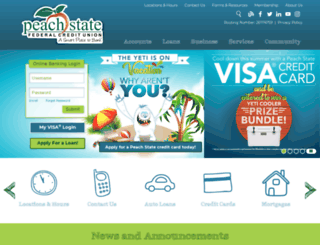 peachstatefcu.net screenshot