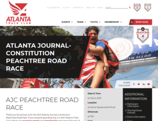 peachtreeroadrace.org screenshot