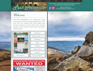 peak-advertiser.co.uk screenshot