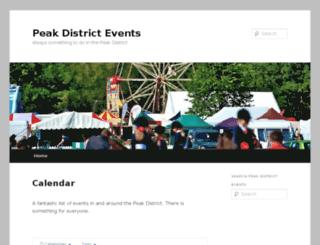 peakdistrictonlineevents.co.uk screenshot