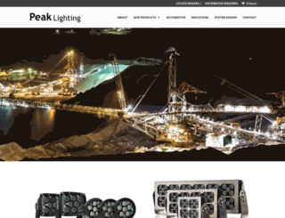peaklighting.com.au screenshot