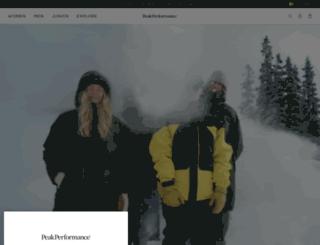 peakperformance.com screenshot