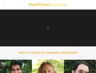 peakpoweracademy.com screenshot