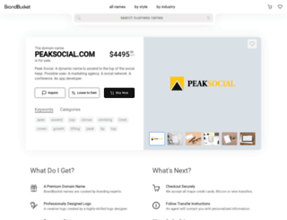 peaksocial.com screenshot