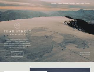 peakstreet.com screenshot