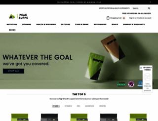 peaksupps.com screenshot