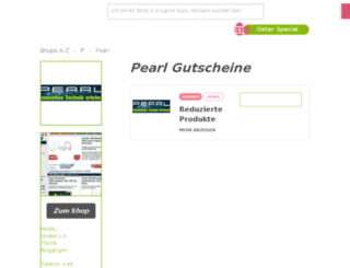pearl.gutscheincodes.de screenshot