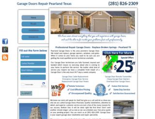 pearlandgaragedoor-repair.com screenshot