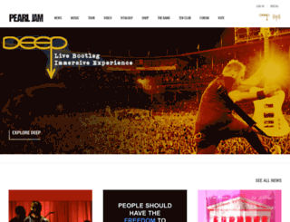 pearljam.com screenshot
