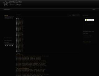 pearljambootlegs.org screenshot