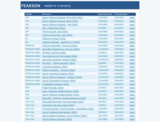 pearsonlankavacancies.peopleshr.com screenshot