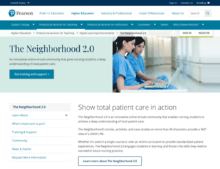pearsonneighborhood.com screenshot