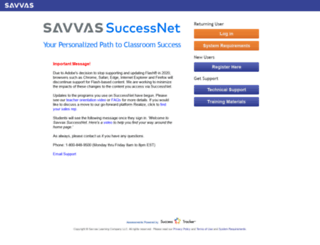pearsonsuccessnet.com screenshot
