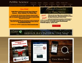 pebblescience.org screenshot
