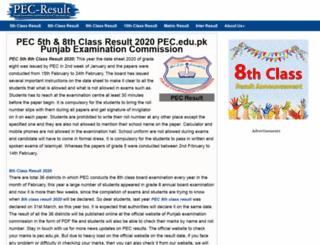 pec-result.com screenshot