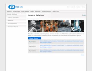 pec.listedcompany.com screenshot