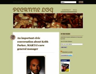 pecannelog.wordpress.com screenshot