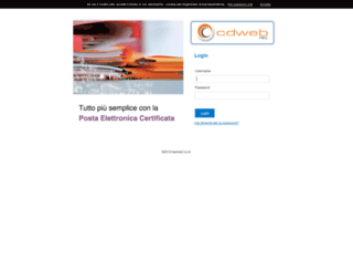 peccertificata.webmailpec.it screenshot