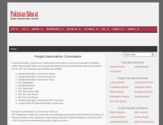 pecedupk.pec-result.com screenshot