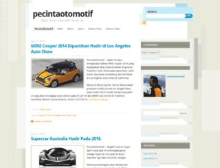 pecintaotomotif.wordpress.com screenshot