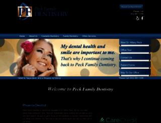 peckfamilydentistry.com screenshot