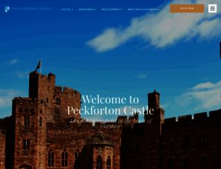 peckfortoncastle.co.uk screenshot