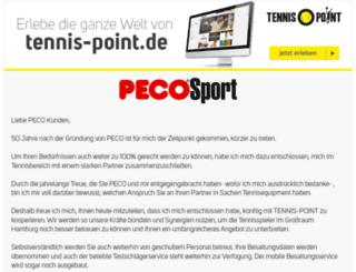 peco-tennis.de screenshot