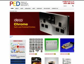 ped-elec.co.uk screenshot