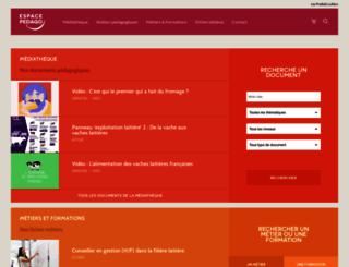 pedago.produits-laitiers.com screenshot