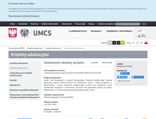 pedagog.umcs.lublin.pl screenshot