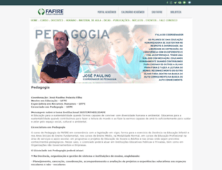 pedagogia.fafire.br screenshot