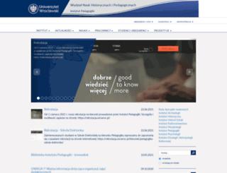 pedagogika.uni.wroc.pl screenshot