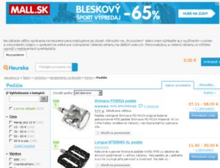 pedale.heureka.sk screenshot