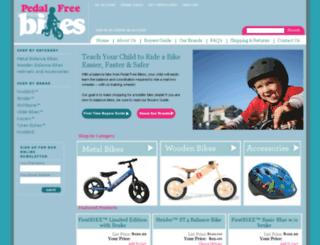 pedalfreebikes.com screenshot