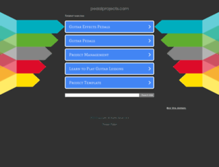 pedalprojects.com screenshot