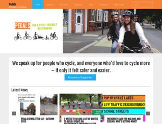 pedals.org.uk screenshot
