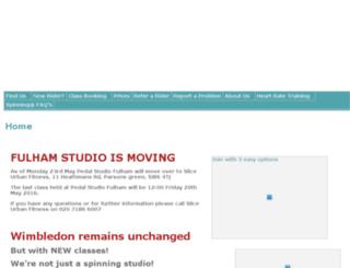 pedalstudio.co.za screenshot