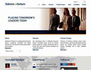pedersenandpartners.com screenshot