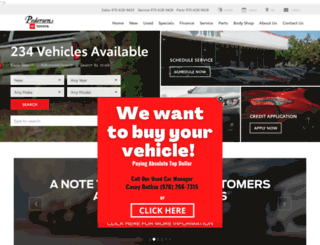 pedersentoyota.com screenshot