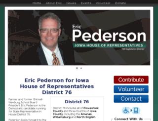 pedersonforiowa.com screenshot